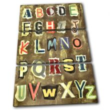 Alphabet grunge For Kids Room - 13-1217(00B)-TR32-PO